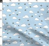 Flugzeuge, Wolken, Luftwaffe Stoffe - Individuell Bedruckt