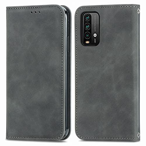 Coque pour Xiaomi Redmi 9T 6.53inch Portefeuille, Housse en Cuir avec Porte Carte Fermeture par Rabat Aimanté Antichoc Étui Case pour Xiaomi Redmi 9T - DESD250937 Vert