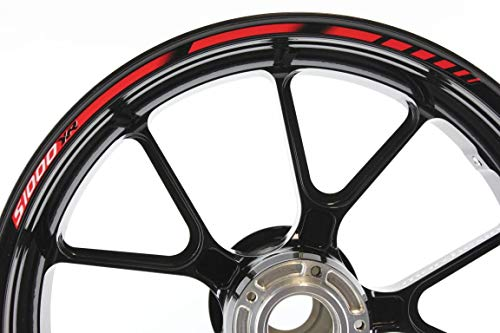 IMPRESSIATA Motosticker Kompatibel für Motorrad Felgenaufkleber SpecialGP Rot Abziehbild Aufkleber BMW S1000XR