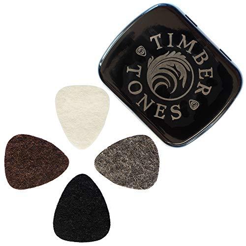 Felt Tones FTMT4 - Pack de 4 púas de fieltro para ukelele,