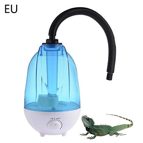 SNIIA Reptilienbevochtiger, 4L waterreservoir Noise Cool mistmachine met verstelbare knop voor echsenchameleon slangen Terrarium UK stekker