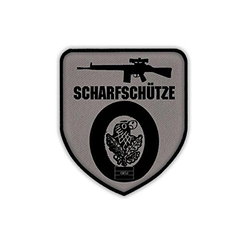 Copytec Patch/Aufnäher - G3 Scharfschütze Sniper Gewehr Bundeswehr Sportschütze Waffe Sturmgewehr Standardgewehr Rückstoßlader Kaliber Armee NATO Deutschland Fallschirmjäger Jäger Abzeichen #19561