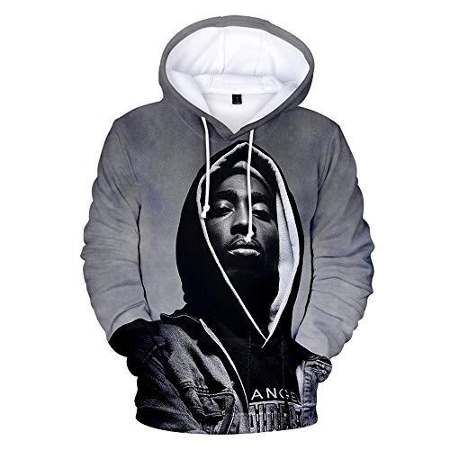 hhalibaba Gangsta Rap 2Pac 3D Neue Hoodie Sweatshirt Mit Kapuze Herren/Damen Hoody Pullover Wintermütze Trainingsanzüge