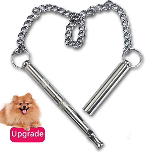 lEPECQ Dog Whistle, Dog Whistle to Stop Barking, Professional Dog Whistle Training Tools, Adjustable Pitch Ultrasonic Pure Copper Silent Bark Control for Dogs
