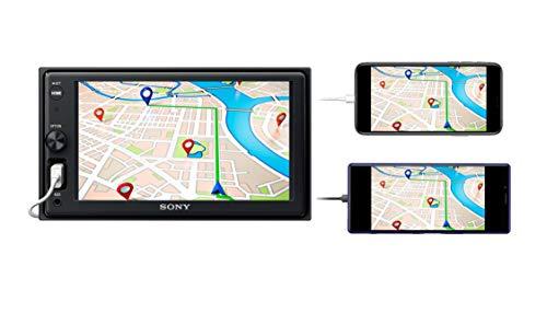 Sony XAV-1500 Autoradio mit WebLink 2.0 für Navigation, Freisprechen, Schwarz, 2 DIN