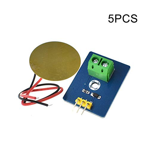 PerGrate 1/2 / 5pcs Analogue Piezoelectricity Ceramic Piezo Vibration Sensor DIY for Arduino UNO Rev3, 5pcs