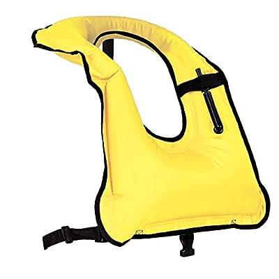 Rrtizan Men/Women Snorkel Vest Adult Inflatable Snorkeling Jacket for Diving Swimming Safety
