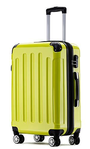 BEIBYE Zwillingsrollen 2048 Hartschale Trolley Koffer Reisekoffer Taschen Gepäck in M-L-XL-Set (Grün, L)