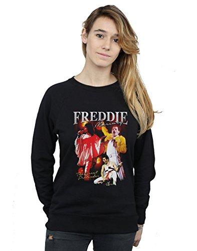 Absolute Cult Queen Mujer Freddie Mercury Homage Camisa De Entrenamiento Negro Medium