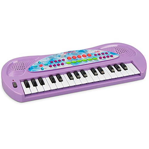 aPerfectLife Kids Piano, 32 Keys Multifunction Electronic Kids Keyboard Musial Instrument for Kids Children with Microphone (Purple)