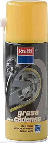 Krafft - Lubricante grasa spray para motos 520ml