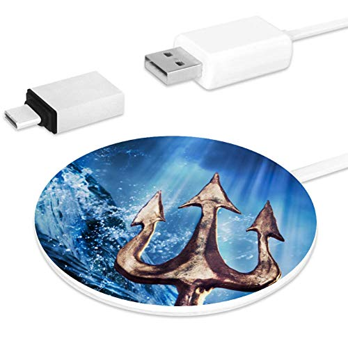 Poseidon's Trident Emerging Fast Wireless Charger, Wireless Charging Pad 10W Unibody Fast Charging Pad Compatible for iPhone, airpods or Any Qi Enabled Smartphone