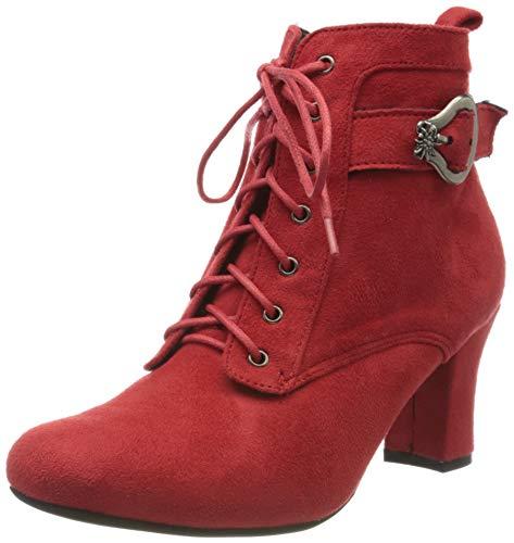 HIRSCHKOGEL Damen 3000503 Stiefeletten, Rot (Rot 021), 36 EU