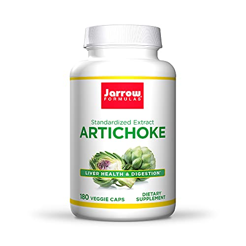Jarrow Formulas Artichoke 500 mg - 180 Capsules - Standardized Extract - Supports Liver Health & Digestion - 180 Servings