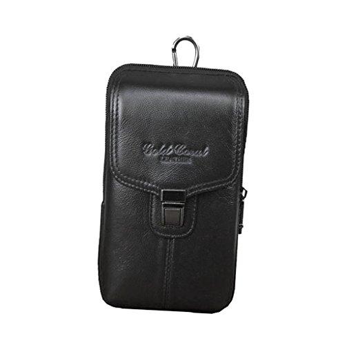 Baoblaze Sac de Taille Ceinture Poche Étui de Protection Étanche Porte-Monnaie Accessoire Sports - Noir, 18X11X3.5cm