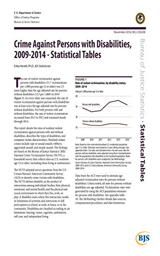 Crime Against Persons with Disabilities, 2009-2014 - Statistical Tables