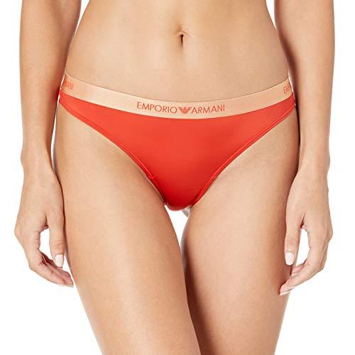 Emporio Armani Damen Microfiber Brazilian Brief Unterwäsche im Bikini-Stil, Paprika, Klein
