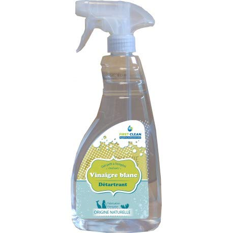 Limpiador de inodoro – Producto de WC – Descalcificador y inodoro – Limpiador descalcificador de gel listo para usar – Vinenge blanco Labojal – Spray de 750 ml