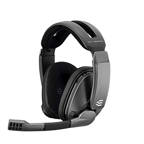 EPOS I Sennheiser GSP 370 Over-ear Wireless Gaming Headset, 100 Hour Battery Life, Low- Latency Bluetooth,Noise- Cancelling Mic, Flip-to- Mute, Audio Presets - PC, Mac, Windows, and PS4/PS5 Compatible