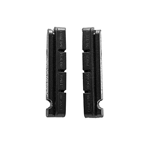 PPINA 2 Pair Bicycle brake pads, Replacement pads for carbon rims Shimano- Black
