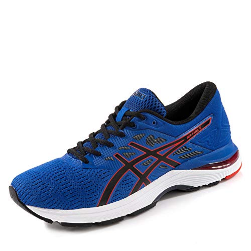 Asics Gel-Flux 5 Hombre Running Trainers T811N Sneakers Zapatos (UK 10.5 US 11.5 EU 46, Imperial Black 402)