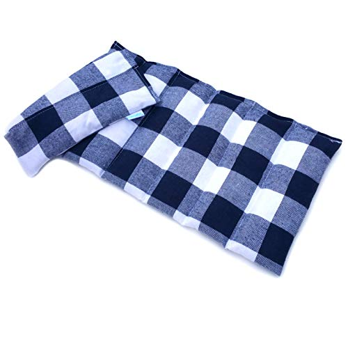 Microwavable Heating Pad (Blue Plaid)