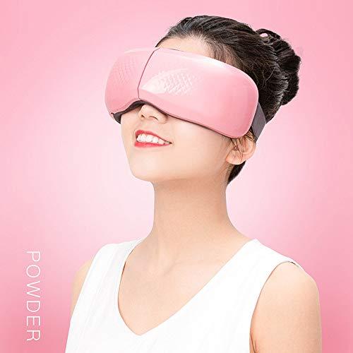 HGJDKSJ Draadloze massage-apparaat, bluetooth-slaapmasker, hot pack-massage, bluetooth-muziek, vermindering van de kringen rond de ogen, verwijdering van vermoeidheid en ontspanning van de ogen. roze