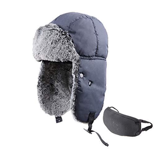 Azarxis Sombrero de Aviador Anti-Viento Nieve Gorro de Invierno Unisex para Pescar...