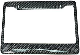 ICBEAMER Waterproof Black Plastic with Gloss Carbon Fiber on top Auto Truck Van Sedan License Plate Frame [Pack of 1 pc]