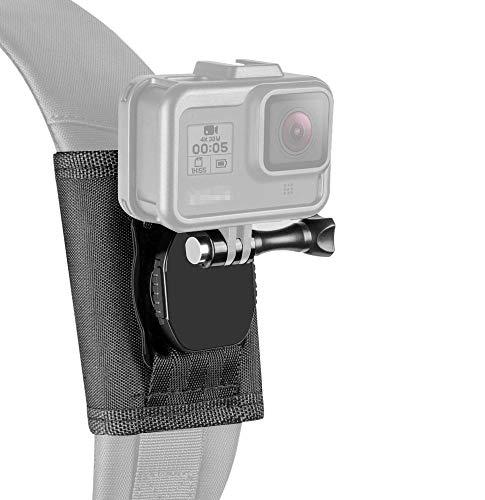 "【Taisioner】アクションカメラ用バックパックベルトマウント++1/4""インチネジマウント 第二世代 ボタン式..."
