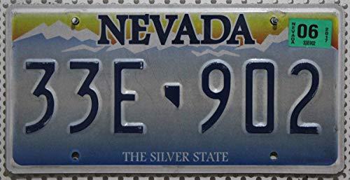 USA Nummernschild NEVADA The Silver State / Kennzeichen US License Plate / KFZ - Blechschild