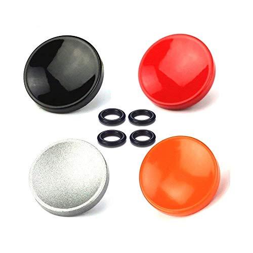 LXH 4 Stück (Rot + Silber + Schwarz + Orange) Soft-Auslöser für Kamera mit Auslöser für Fujifilm XT20/10 X100F X-T2 X100T X-PRO1/2 X100S X10/20/30 Leica M-Serie Olympus PEN-F