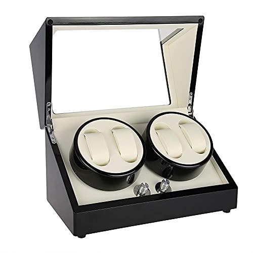 WBJLG Devanadera de Reloj de Madera, Caja automática, Caja de Caja, Motor súper silencioso, Almohada Ajustable para Relojes para Hombre y Mujer