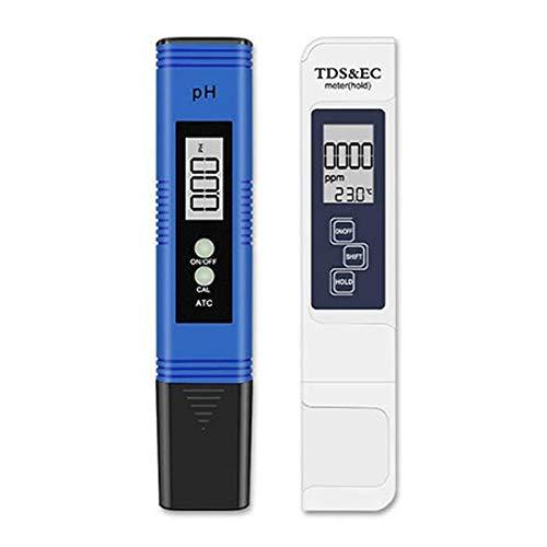 TOOGOO Combo de Medidor Digital de PH y TDS, Probador de Calidad del Agua para Agua Potable DoméStica, Piscina, HidroponíA, Agua de Acuario