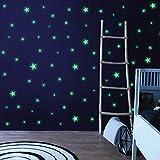 Husmeu Leuchtsterne Leuchtpunkte Selbstklebend, 637Pcs Mond Sternenhimmel Leuchtsticker Wandtattoo mit Starker Leuchtkraft Fluoreszierend Leuchtaufklebe Aufkleber Leuchtend für Kinderzimmer Fenster