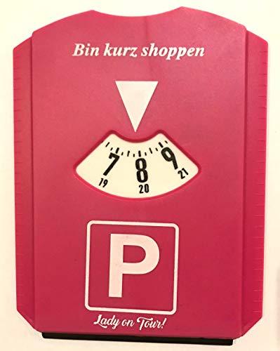 Popular Parkscheibe, Lady on Tour! , Bin kurz shoppen, Frauen, Geburtstag, Scherzartikel, PINK, NEU, + DiWa Kugelschreiber