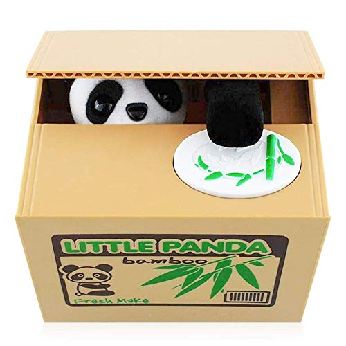 Cartoon Piggy Bank Cash Coin Can Password Electronic Money Bank Safe Saving Box ATM Bank Safe Locks Panda Smart Voice Prompt Money Piggy Box (Panda)