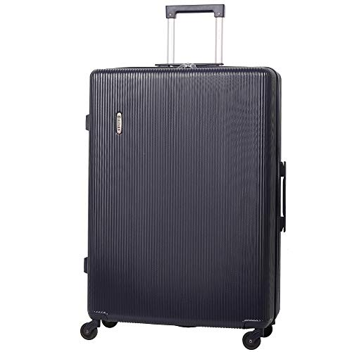 "5 Cities Large 29"" Lightweight ABS Hard Shell Hold Check in Luggage Suitcase with 4 Wheels (Navy)"