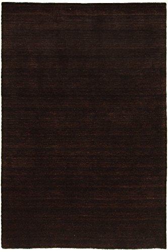 Morgenland Gabbeh Loribaft Teppich Choco Dark Einfarbig Uni Schurwolle Handgewebt 160 x 90 cm