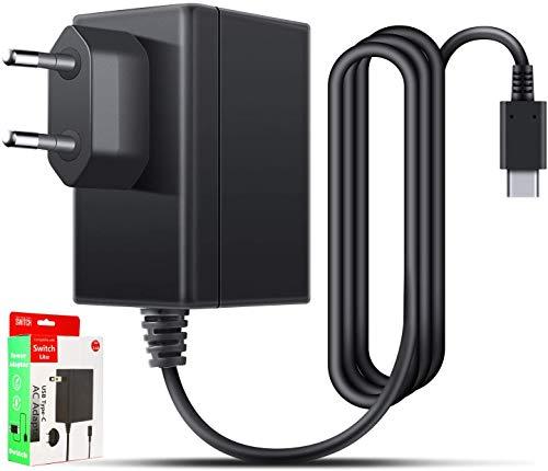 ALIENGT - Cargador de viaje para Nintendo Switch, cable de carga PD tipo C para Nintendo Switch / Switch Lite, otros dispositivos de tipo C, compatible con 5 V - 1,5 A / 15 V - 2,6 A