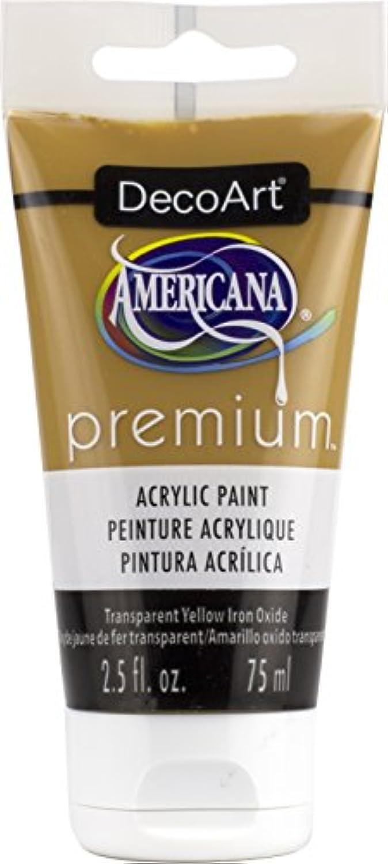 DecoArt Transparent Yellow Iron Oxide Americana Premium Acrylic Paint Tube 2.5oz