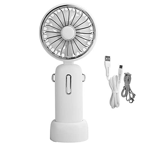 DAUERHAFT Mini Ventilador portátil Personal de Mano, Ventilador USB, Ventilador de Viento Suave portátil de Tres Niveles, para Viajes, Trabajo de Oficina y Estudio de Biblioteca