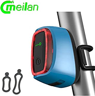 TGX Meilan X6 Smart Bike Light Bicycle Rear led Taillight Rechargeable 16 LED USB Lantern 7 Mode Flash Light Cycling Accessories