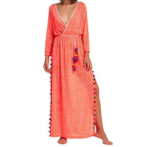 Pitusa Santorini Maxi Dress Cover Up - Watermelon