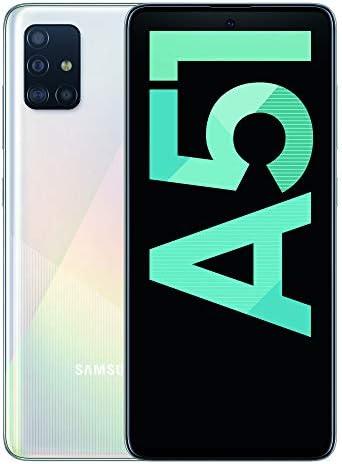 Samsung Galaxy A51 – Dual SIM, Smartphone de 6.5″ Super AMOLED (4 GB RAM, 128 GB ROM, cámara Trasera 48.0 MP + 12.0 MP + 5.0 MP + 5 MP, cámara Frontal 32 MP) Blanco [Versión española]