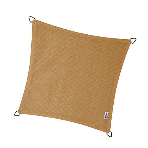 nesling Coolfit Voile D'ombrage (Carré 3,6m x 3,6m x 3,6m x 3,6m, Sable) Protection Solaire, Eau et Vent perméable, Protection UV