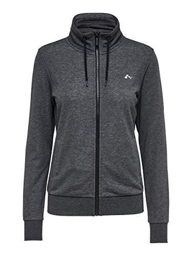 Only Play Female Sweatshirt Stehkragen MDark Grey Melange