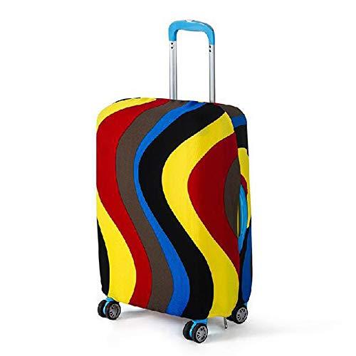 ケイ・ララ スーツケースカバー 伸縮素材 かわいい キャリーカバー ラゲッジカバー [ウェーブ:彩色:XLサイズ] y4