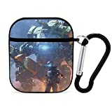 Apple Bluetooth Headset Cover Titanfall 2 Posters for Bedroomposterposterposter AirPods Case 1&2 comes with a key chain, compatible with wired charging, personalized and customized patterned prints, a