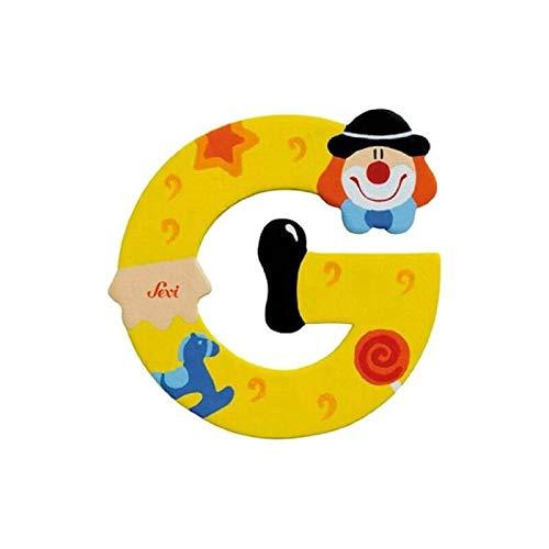 Lettre clown en bois G - Petit Jour